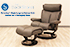 Stressless Magic Recliner Chair and Ottoman in Paloma Rock Leather