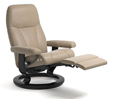 Stressless Consul Classic Base Recliner Chair and Ottoman