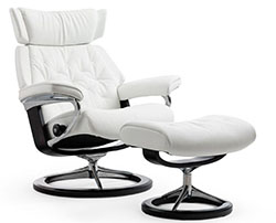 Stressless Skyline Classic Base Recliner Chair and Ottoman