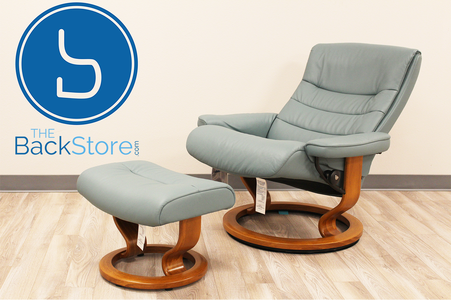 Pleasing Stressless Paloma Aqua Green Leather By Ekornes Stressless Ocoug Best Dining Table And Chair Ideas Images Ocougorg