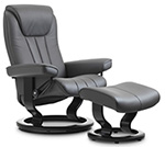 Stressless Bliss Recliner Chair and Ottoman