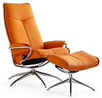 Stressless City High Back Recliner Chair and Ottoman by Ekornes