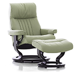 Stressless Crown Power LegComfort Classic Wood Base Recliner Chair by Ekornes