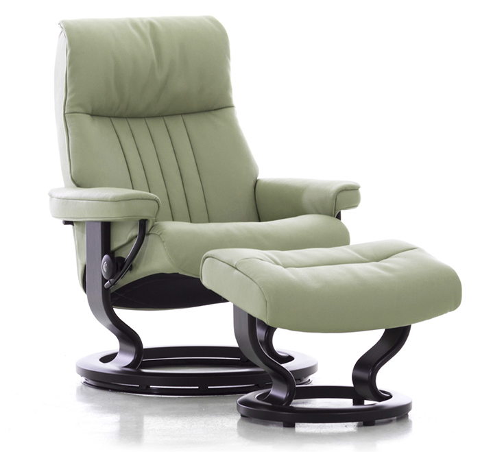 Stressless Crown Power LegComfort Classic Wood Base Recliner Chair