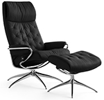 Stressless Metro High Back Recliner Chair and Ottoman by Ekornes