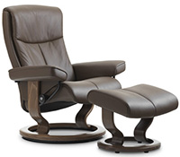 Stressless Peace Classic Base Recliner Chair and Ottoman
