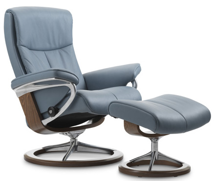Stressless Peace Signature Base Recliner Chair and Ottoman