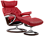 Stressless Skyline Recliner Chair and Ottoman by Ekornes