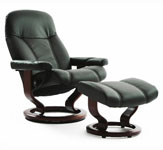 Stressless Consul Ergonomic Recliner and Ottoman by Ekornes