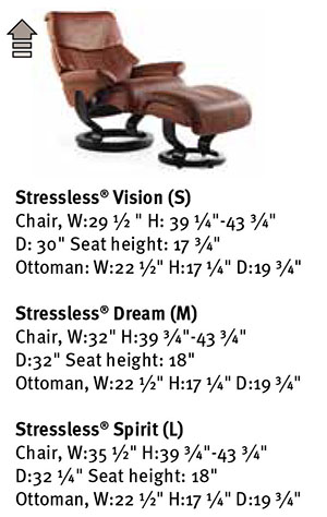 Stressless Dream Family Recliner Chair Dimensions from Ekornes