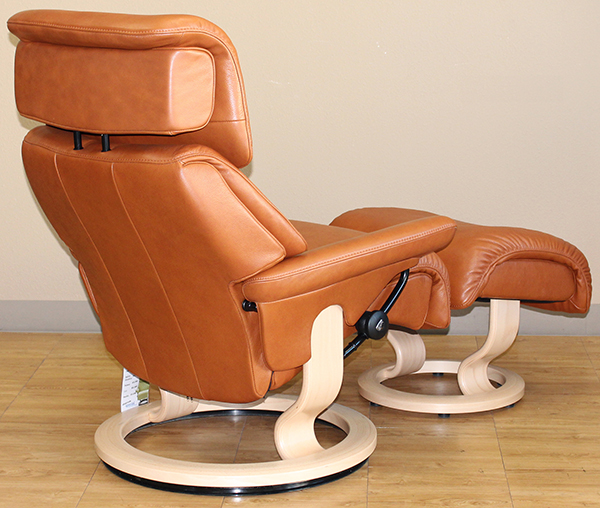 Stressless Dream Royalin TigerEye Leather Recliner Chair by Ekornes