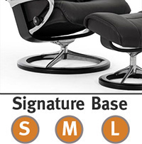 Stressless Wing Signature Steel and Wood Base