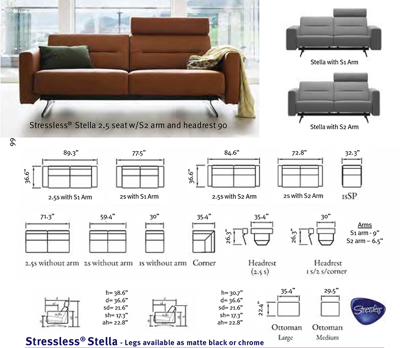 Stupendous Stressless Stella Leather Sofa Loveseat Chair By Ekornes Pdpeps Interior Chair Design Pdpepsorg