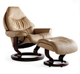 Stressless Voyager Ergonomic Recliner and Ottoman by Ekornes