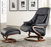 Himolla Palena ZeroStress Transitional Recliner Chair and foot stool - 8504-32D - 02D