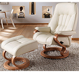 Himolla Elbe ZeroStress Transitional Recliner Chair and foot stool - 8523-32H - 02D