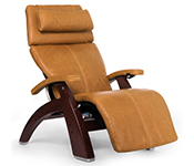 Sycamore Premium Leather with Chestnut Wood Base Series 2 Classic Human Touch PC-420 PC-600 PC-610 Perfect Chair Recliner by Human Touch