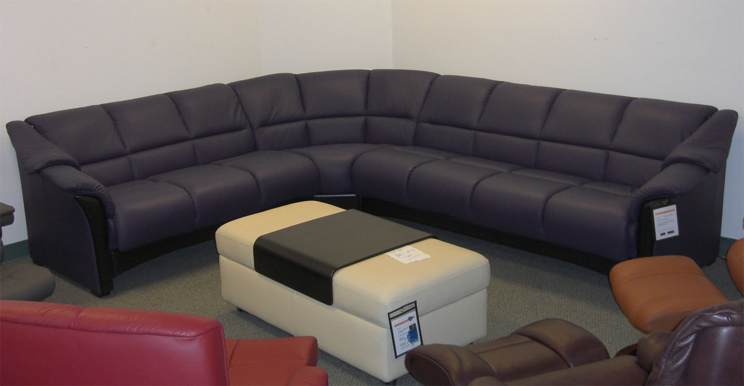 Stressless Paloma Indigo Leather Sofa Sectional from Ekornes