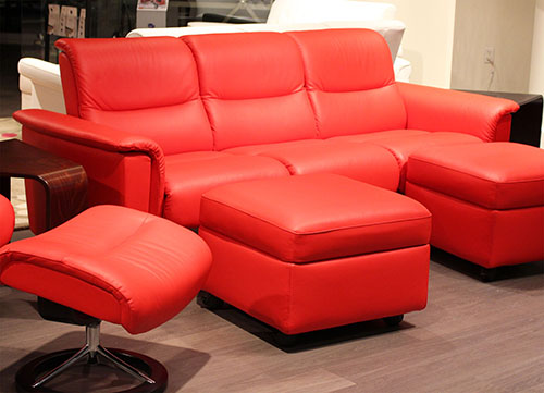 Stressless Panorama Sofa in Paloma Tomato Leather