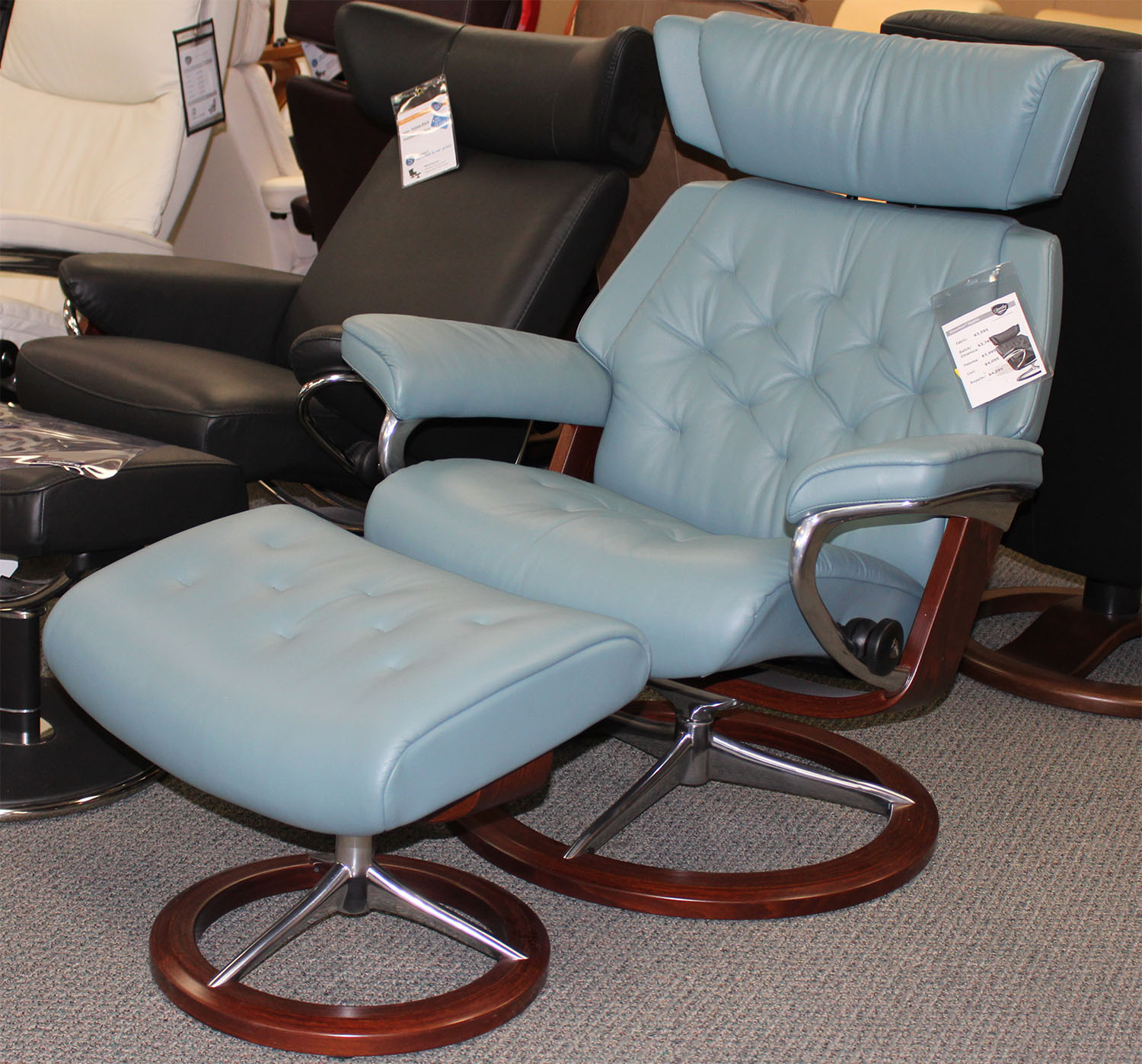 Stressless Skyline Recliner - Cori-Petrol Leather