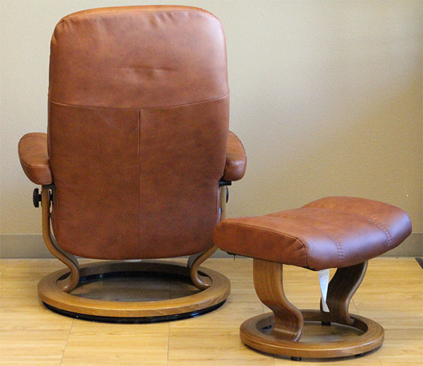 Stressless Batick Caramel Leather Recliner by Ekornes