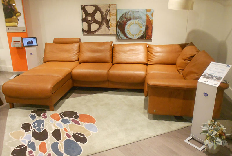 Stressless E300 Royalin TigerEye Leather Sofa Sectional