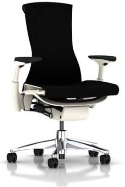 NEW Herman Miller Embody Chair Black Balance Fabric Polished Aluminum Chrom