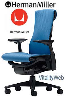 NEW Herman Miller Embody Office Desk Chair Blue Rhythm HermanMiller Seating