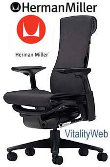 NEW Herman Miller Embody Office Desk Chair Graphite Charcoal Gray Rhythm Fabr