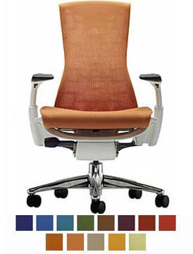 NEW Herman Miller Embody Office Chair Mango Aluminum EBay