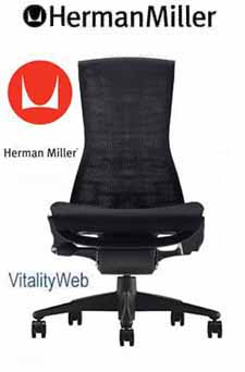 Herman Miller Embody Home Office Desk Chair Black Rhythm BRAND NEW No Arms
