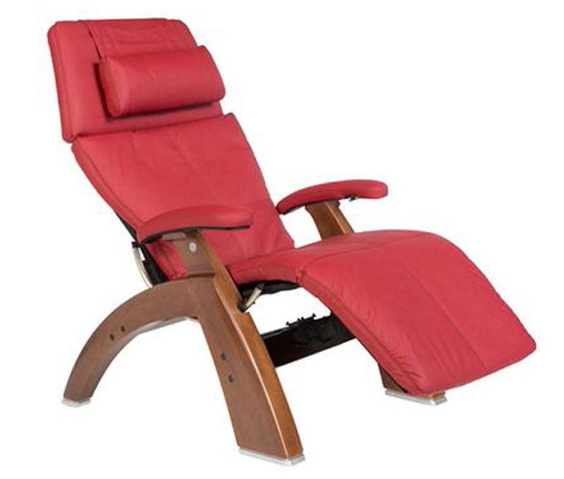 Red Top Grain Leather with a Walnut Wood Base Series 2 Classic Perfect Chair Zero Gravity  sc 1 st  The Perfect Chair Ergonomic Zero Gravity Recliner Chair from Human ... & Red Top Grain Leather with a Walnut Wood Base Series 2 Classic ...