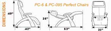 Human Touch Series 1 Classic PC-095 Power Perfect Chair Dimensions