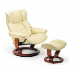 Stressless Kensington Recliner Chair and Ottoman by Ekornes