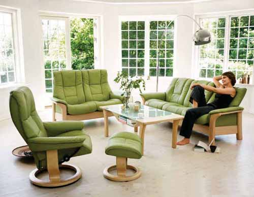 Stressless Recliners Chairs - Streeless Windsor Sofa, Table and Mayfair Recliner in Paloma