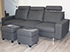 Stressless E200 3 Seat Sofa in the Paloma Black Leather