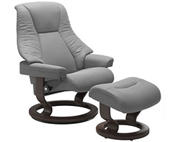 Stressless Live Classic Recliner Chair and Ottoman