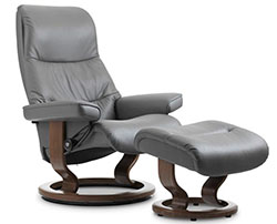 Stressless View Classic Recliner Chair and Ottoman