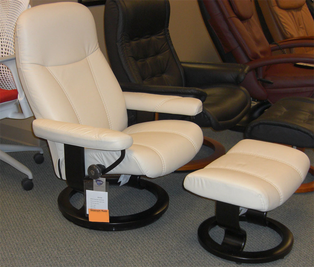 Stressless Batick Cream 09313 Leather by Ekornes