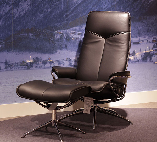 Stressless Paloma Black Leather by Ekornes