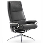 Stressless Paris High Back Recliner Chair and Ottoman by Ekornes