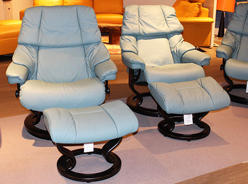 Stressless Paloma Aqua Green Leather Color from Ekornes