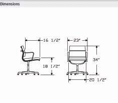 Eames Side Chair Dimensions