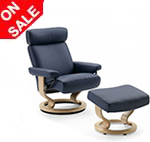 Stressless Taurus Recliner Chairs and Ottoman